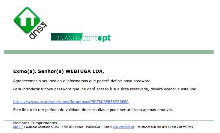 Transferencia Dominio .PT